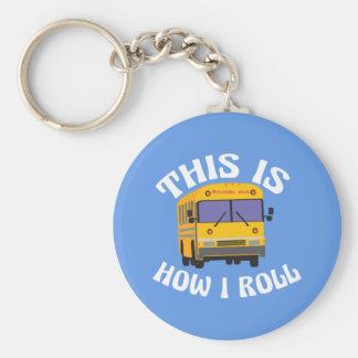 Llavero El conductor divertido del autobús escolar esto es