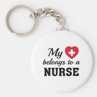 Llavero El corazón pertenece enfermera