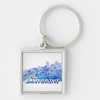 Llavero El horizonte de Santorini en limpio Scissor estilo