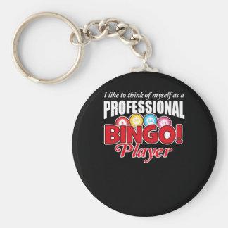 Llavero El jugador del bingo se piensa como profesional