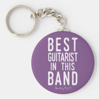 Llavero El mejor guitarrista (quizá) (blanco)