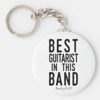 Llavero El mejor guitarrista (quizá) (negro)