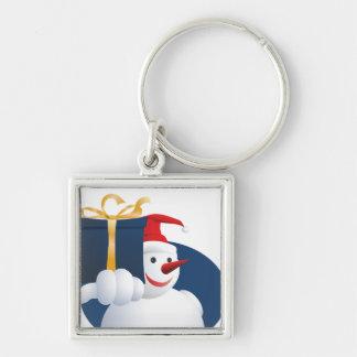 Llavero El muñeco de nieve entrega el regalo…