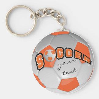 Llavero El naranja y el blanco personalizan el balón de