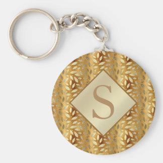Llavero El oro elegante sale del monograma