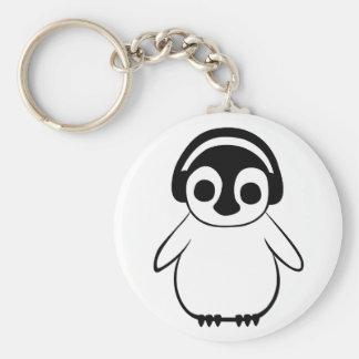 Llavero El pingüino escucha la insignia de la música