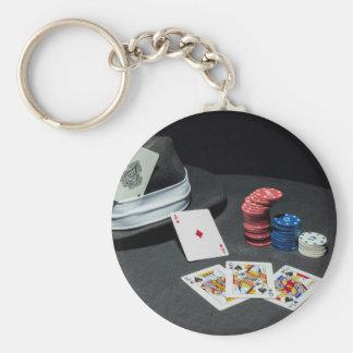 Llavero El póker carda el gorra del gángster