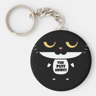 """Llavero """"El Puss respeta"""" el gato sarcástico divertido"""