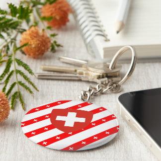 Llavero El suizo raya la bandera