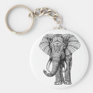 Llavero elefante tribal