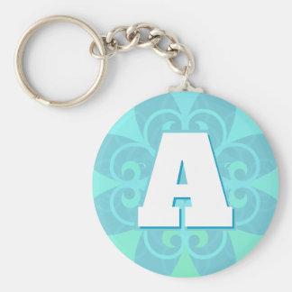 Llavero elegante de la letra inicial del diseño