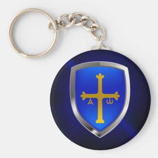 Llavero Emblema metálico de Asturias