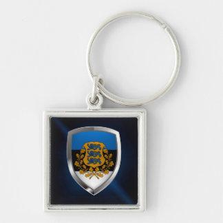 Llavero Emblema metálico de Estonia