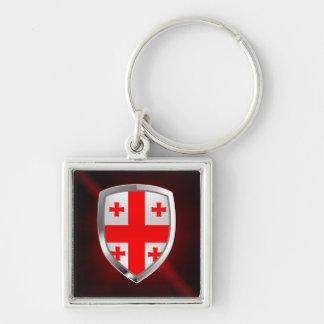 Llavero Emblema metálico de Georgia