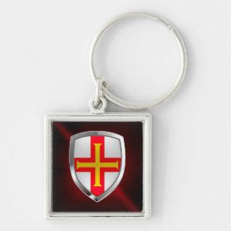 Llavero Emblema metálico de Guernesey