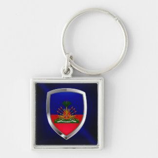 Llavero Emblema metálico de Haití