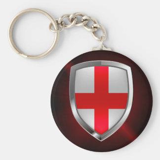 Llavero Emblema metálico de Inglaterra