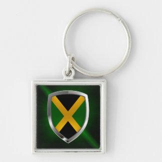 Llavero Emblema metálico de Jamaica