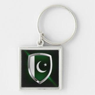 Llavero Emblema metálico de Paquistán