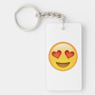 Llavero Emoji - ojos en forma de corazón