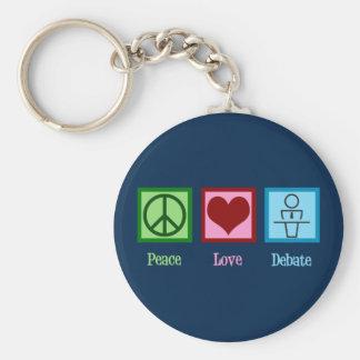 Llavero Equipo del discusión del amor de la paz