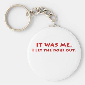 Llavero Era yo que dejé los perros hacia fuera