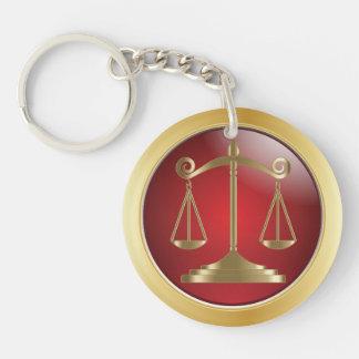 Llavero Escalas del abogado de la ley el | de la justicia