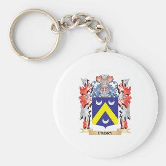 Llavero Escudo de armas de Fabry - escudo de la familia