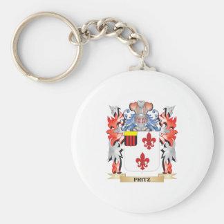 Llavero Escudo de armas de Fritz - escudo de la familia