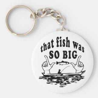 Llavero Ese pescado era humor de jactancia del pescador