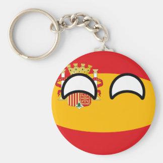 Llavero España Geeky que tiende divertida Countryball