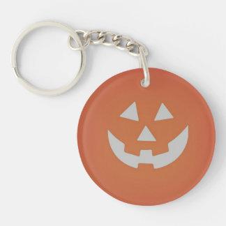 Llavero espeluznante de Halloween de la calabaza