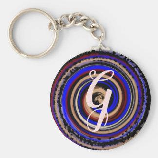 Llavero Espiral colorido con la letra inicial adaptable
