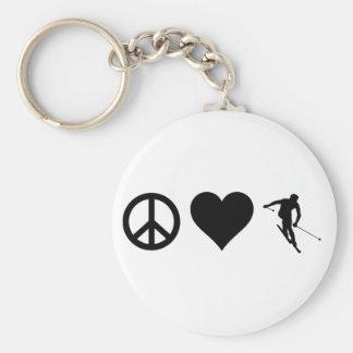 Llavero Esquí del amor de la paz