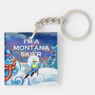 Llavero Esquiador SUPERIOR de Montana