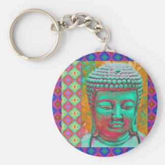 Llavero Estallido de Buda con las fronteras del remiendo