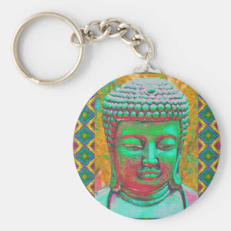 Llavero Estallido de Buda en verde y rojo del trullo