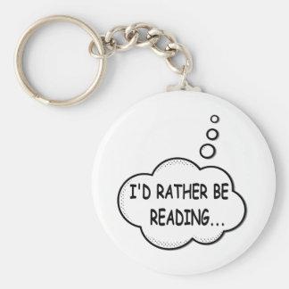 Llavero Estaría leyendo bastante