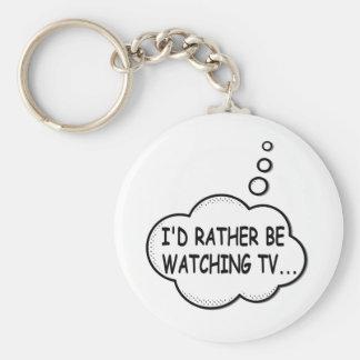 Llavero Estaría viendo bastante la TV