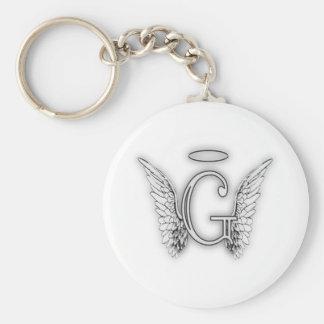 Llavero Este último inicial de G del alfabeto del ángel se