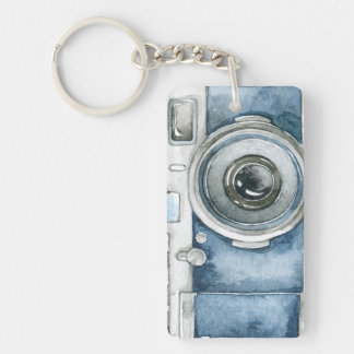 Llavero Estilo 3 de la cámara de color de agua del vintage