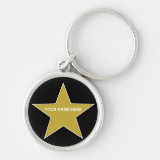 Llavero Estrella adaptable del oro