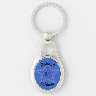 Llavero Estrella azul inspirada del monograma