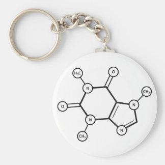 Llavero estructura molecular del cafeína