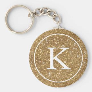 Llavero Falsa inicial del monograma del círculo el | del