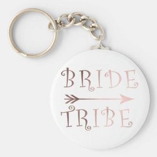 Llavero falso diseño color de rosa elegante de la tribu de