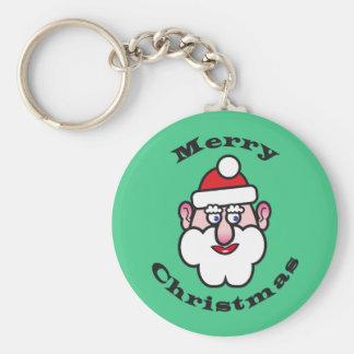 Llavero Felices Navidad, navidad Papá Noel