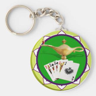Llavero Ficha de póker mágica de la lámpara de Las Vegas