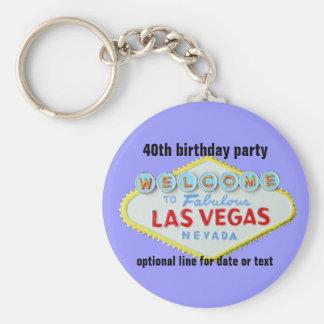 Llavero Fiesta de cumpleaños de encargo de Las Vegas 40.a