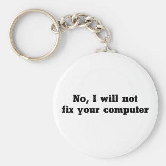 Llavero Fije su ordenador
